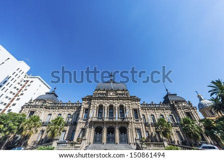 Government Palace in San Miguel de Tucuman, Tucuman province, northern Argentina. - stock photo