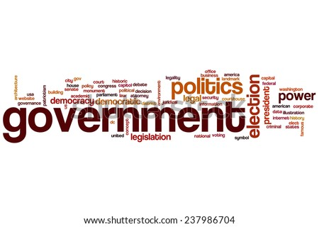 Government word cloud concept - stock photo