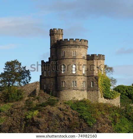 Governor House on Calton Hill in Edinburgh, Scotland - stock photo