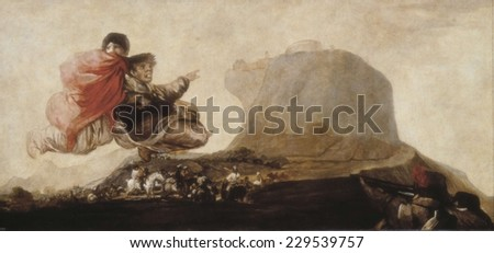 GOYA Y LUCIENTES, Francisco de (1746-1828), The Witches' Sabbath (Asmodee), 1797, Mural painting mounted on canvas, Asmodi was the demon which the Book of Tobias talks about
