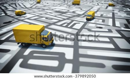GPS tracking - stock photo