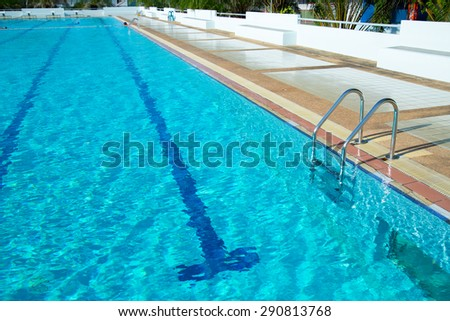 blue pool garden swimming pool stock photo 479519386 shutterstock