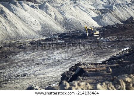 grabber in coal mine - stock photo