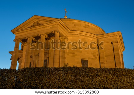Grabkapelle (grave chapel) in Stuttgart, Germany - stock photo