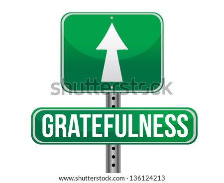 gracefulness road sign illustration design over a white background