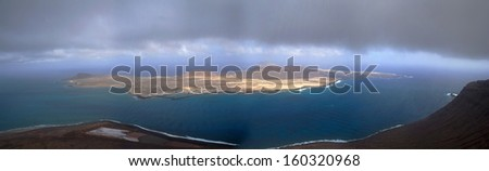 gracious island in Canaries island, spain - stock photo