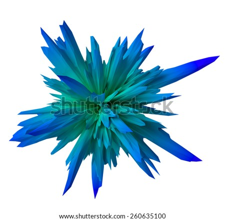 gradient abstract form- blue - stock photo