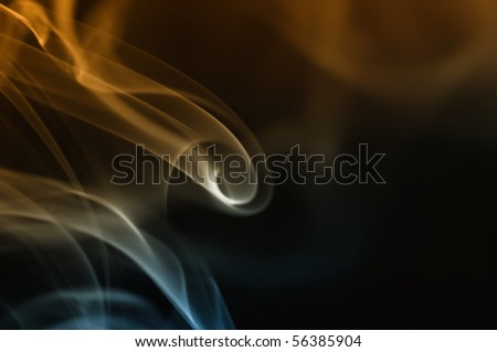 Gradient colored fume abstract over white background - stock photo
