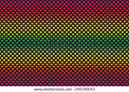 Gradient Colored Heart Shape with black background