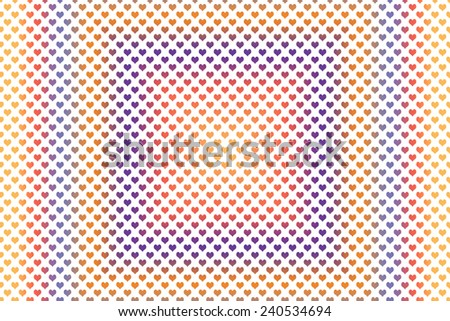 Gradient colored heart shape with white background - stock photo