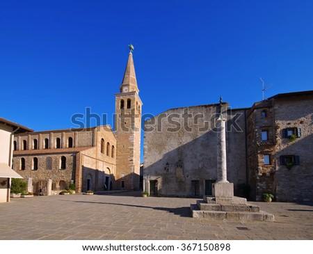 Grado in Italiy, the church - stock photo