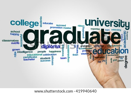 Graduate concept word cloud background - stock photo