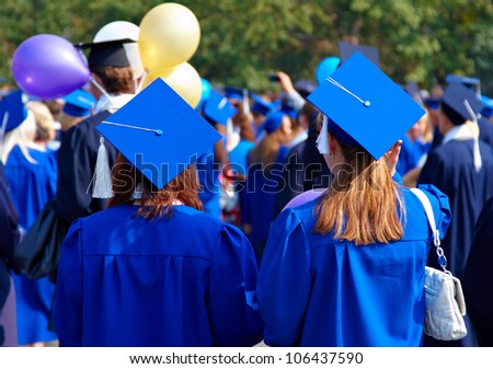 Graduate students - stock photo