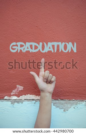 Graduation. - stock photo