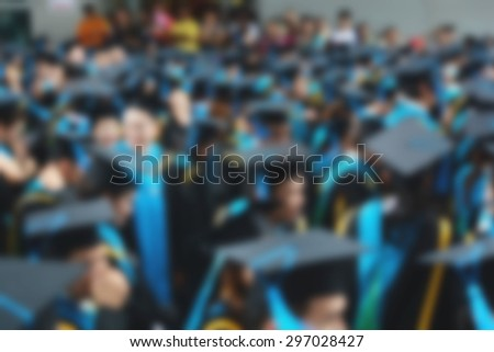Graduation abstract blur background