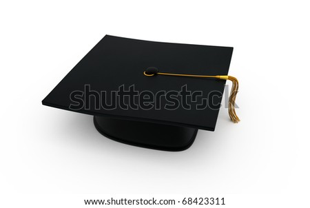Graduation cap (clipping path)