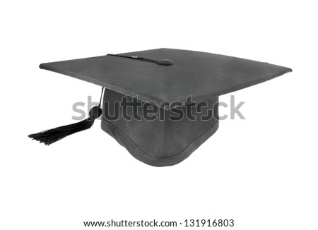 graduation cap on white background
