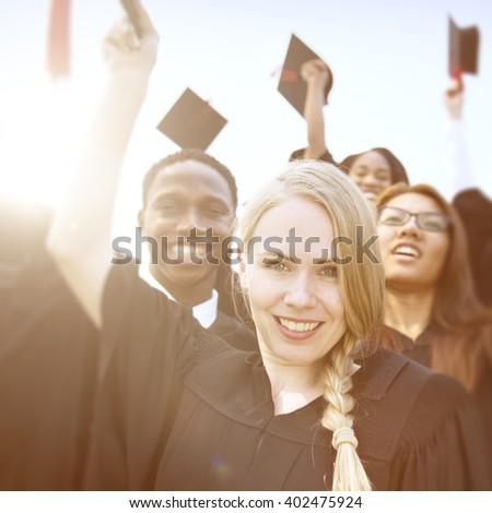 Graduation Celebration Success Academic Concept - stock photo