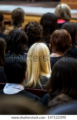 Graduation ceremony at the university - stock photo