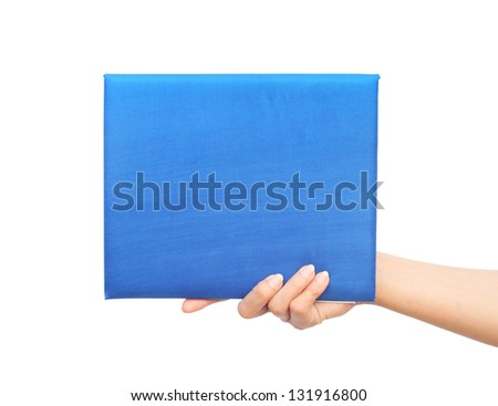 graduation diploma in hand on white background - stock photo