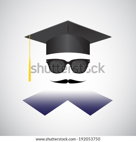 Graduation portrait  - stock photo