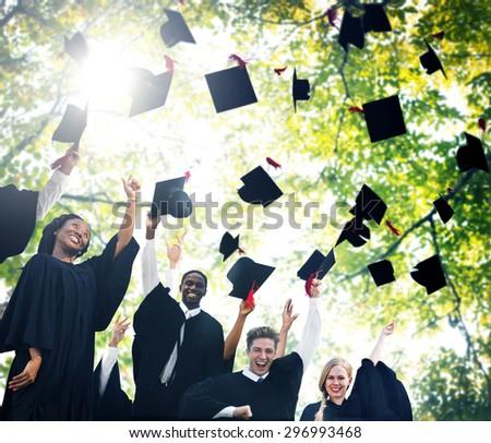Graduation Student Commencement University Degree Concept - stock photo
