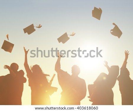 Graduation Student Commencement University Degree Concept - stock photo