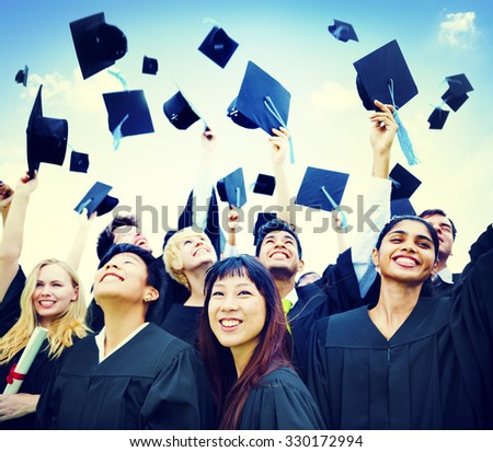 Graduation Students Success Education Happiness Concept