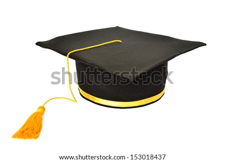 Graduations hat isolated
