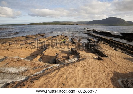 Graemsay and Hoy Islands viewed from Stromness, Orkney Islands, Scotland - stock photo
