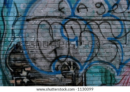 Graffiti art - stock photo