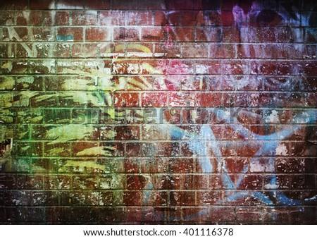 Brick Wall Graffiti Stock Images Royalty Free Images
