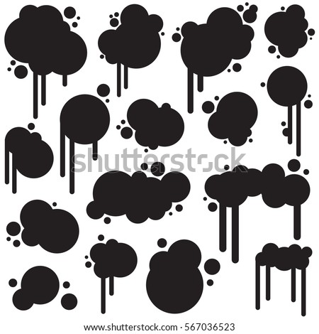 Graffiti Bubbles Stock Illustration 567036523
