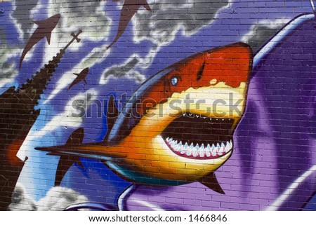 graffiti de requin