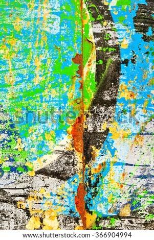 Graffiti / Faded background / Peeling paint - stock photo