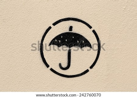 Graffiti on a wall. - stock photo