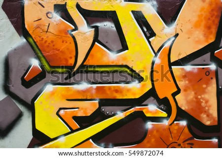 Graffiti on a wall.