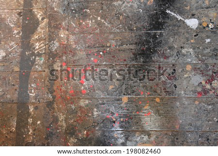 Graffiti splatter on a wall, colorful background - stock photo