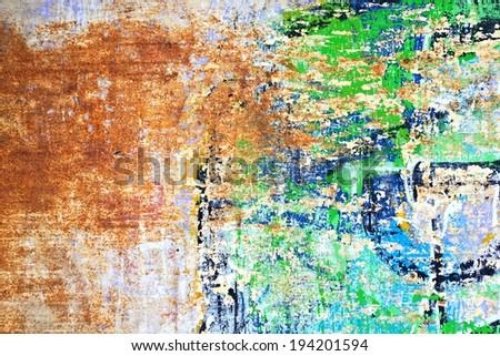 Graffiti / Street art / Abstract / Peeling paint / The arts - stock photo