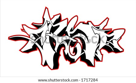 graffiti style - stock photo