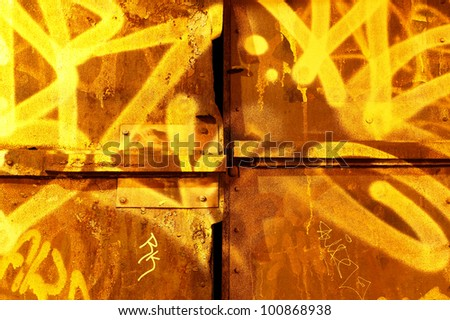 Graffiti wall in Brooklyn, New York City - stock photo