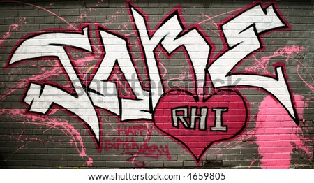 grafitti - stock photo
