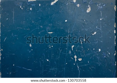 Grain blue old paint wall background or texture - stock photo