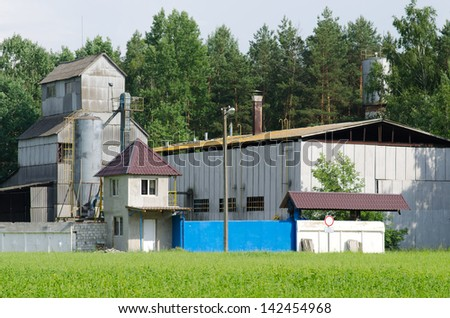 Grain elevator - stock photo
