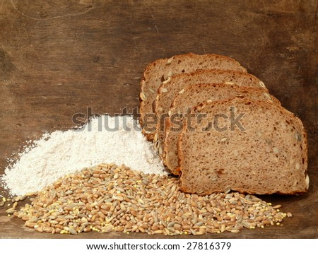 grain, flour and bread