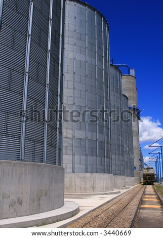 Grain storage and process facility in Osgood Idaho - stock photo