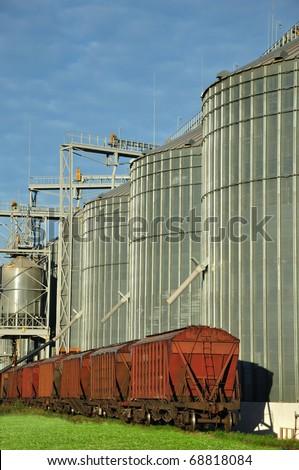 Grain storehouse - stock photo