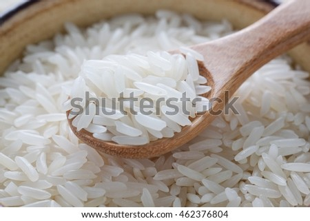 Grain white rice in a bowl