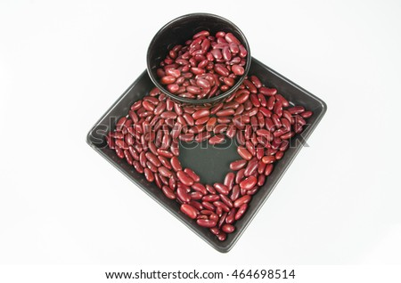 Grains. Kidney Beans isolated on a white background. Close-up.