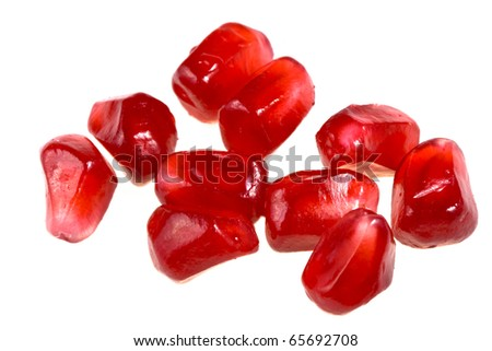 grains of  pomegranate